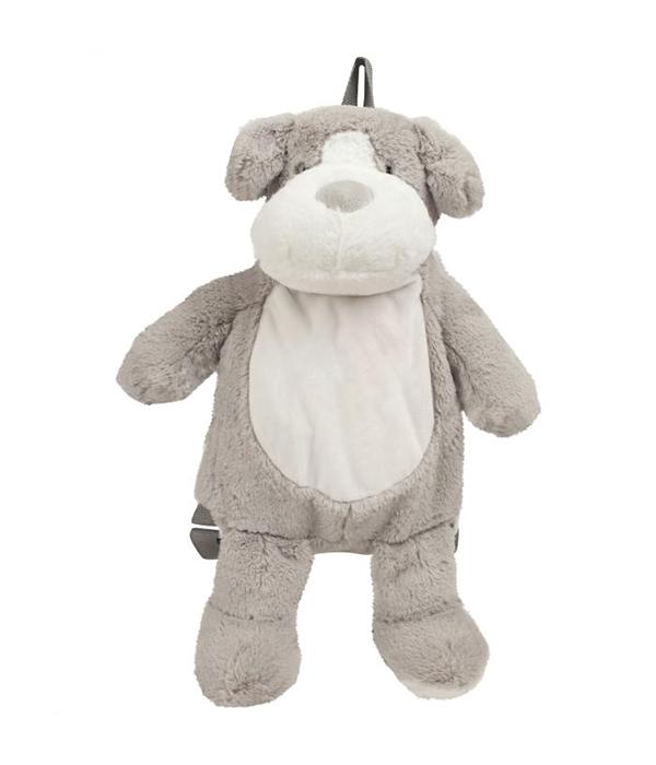 Peluche chien sac à dos